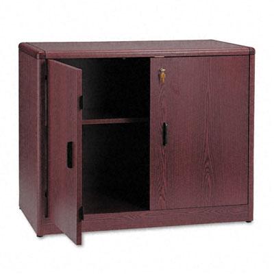 10700 Series Locking Storage Cabinet, 36w x 20d x 29-1/2h, Mahogany - HON107291NN