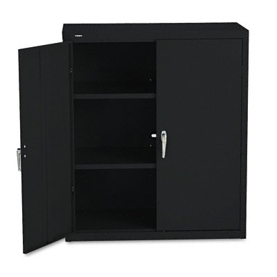 Assembled Storage Cabinet, 36w x 18d x 41 3/4h, Black - HONSC1842P