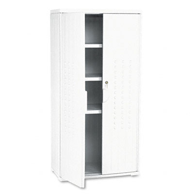Officeworks Storage Cabinet, 33w x 18d x 66h, Platinum - ICE92553