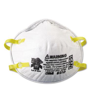 Lightweight Particulate Respirator 8210, N95, 20/Box - MMM8210-UNS