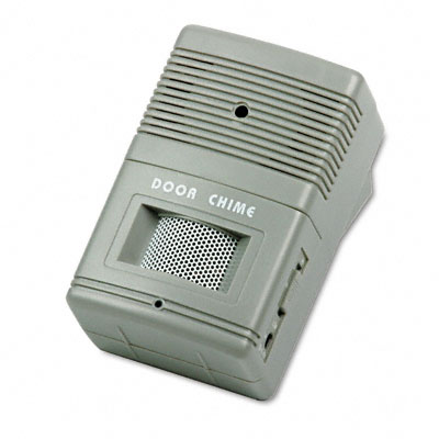 Visitor Arrival/Departure Chime, Battery Operated, 2-3/4w x 2d x 4-1/4h, Gray - TCO15300