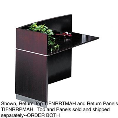 Napoli Veneer Series Desk Return Top, 48w x 25d x 15h, Mahogany - MLNNRRTMAH