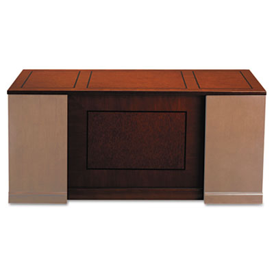 Sorrento Straight Front Desk Top With Modesty Panel, 72w x 42d, Bourbon Cherry - MLNSDTS72SCR