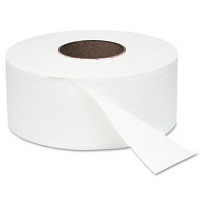 White Jumbo Roll One-Ply Bath Tissue, 8-3/4 dia, 2000 ft, 12 Rolls/Case - WNS200