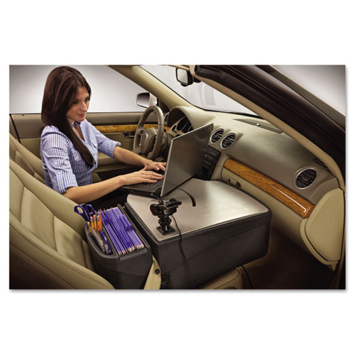 Car Desk With Laptop Mount Supply Organizer Gray Universe Office Products Always Free Shipping