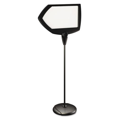 bvcsig01010101 office mastervision floor stand sign holder. Black Bedroom Furniture Sets. Home Design Ideas