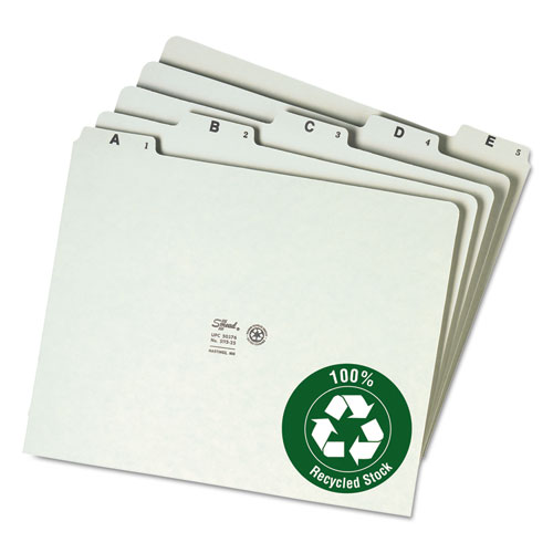 Smead Recycled Top Tab File Guides Alpha 1 5 Tab Pressboard Letter 25 Set Wb Mason