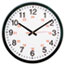 """Universal® 24-Hour Round Wall Clock, 12.63"""" Overall Diameter, Black Case, 1 AA (sold separately) Thumbnail 1"""