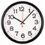 """Universal® Indoor/Outdoor Round Wall Clock, 13.5"""" Overall Diameter, Black Case, 1 AA (sold separately) Thumbnail 1"""