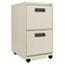 Alera® Two-Drawer Metal Pedestal File, 16w x 19-1/2d x 28-1/2h, Putty Thumbnail 1