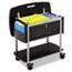 Safco® Scoot Mobile File, 29-3/4w x 18-3/4d x 27h, Black/Silver Thumbnail 1