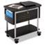 Safco® Scoot Mobile File, 29-3/4w x 18-3/4d x 27h, Black/Silver Thumbnail 4