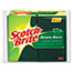 "3M Scotch-Brite™ Heavy-Duty Scrub Sponge, 4 1/2"" x 2 7/10"" x 3/5"", Green/Yellow, 6/Pack Thumbnail 1"