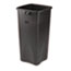 Rubbermaid® Commercial Untouchable® Waste Container, Square, Plastic, 23gal, Black Thumbnail 1