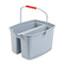 Rubbermaid® Commercial 19 Quart Double Utility Pail, 18 x 14 1/2 x 10, Gray Plastic Thumbnail 1