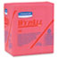 WypAll® X80 Wipers, 1/4-Fold, HYDROKNIT, 12 1/2 x 13, Red, 50/Box, 4 Boxes/Carton Thumbnail 1