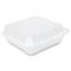 Genpak® Snap-It Vented Foam Hinged Container, 3-Comp, White, 8 1/4x8x3, 100/BG, 2 BG/CT Thumbnail 2