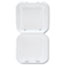 Genpak® Snap-It Vented Foam Hinged Container, White, 8-1/4 x 8 x 3, 100/Bag, 2 Bags/CT Thumbnail 3