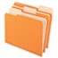 Pendaflex® Colored File Folders, 1/3 Cut Top Tab, Letter, Orange/Light Orange, 100/Box Thumbnail 1