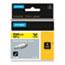 "DYMO® Rhino Heat Shrink Tubes Industrial Label Tape, 1/2"" x 5 ft, White/Black Print Thumbnail 1"