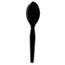 Dixie® Plastic Cutlery, Heavy Mediumweight Teaspoons, Black, 1000/Carton Thumbnail 1