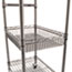 Alera® Three-Tier Wire Cart with Basket, 28w x 16d x 39h, Black Anthracite Thumbnail 3