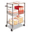 Alera® Three-Tier Wire Cart with Basket, 28w x 16d x 39h, Black Anthracite Thumbnail 5