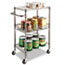 Alera® Three-Tier Wire Cart with Basket, 28w x 16d x 39h, Black Anthracite Thumbnail 6