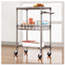Alera® Three-Tier Wire Cart with Basket, 28w x 16d x 39h, Black Anthracite Thumbnail 8