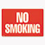 COSCO Two-Sided Signs, No Smoking/No Fumar, 8 x 12, Red Thumbnail 1