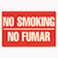 COSCO Two-Sided Signs, No Smoking/No Fumar, 8 x 12, Red Thumbnail 2