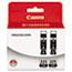 Canon® 4530B007AA (PGI-225) Ink, Black, 2/PK Thumbnail 1