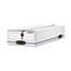 Bankers Box® LIBERTY Check/Voucher Storage Box, 10-3/4 x 23-1/4 x 4-5/8, White/Blue, 12/CT. Thumbnail 1