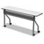 Iceberg OfficeWorks Mobile Training Table, 60w x 18d x 29h, Gray/Charcoal Thumbnail 1