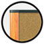 3M™ Cork Bulletin Board, 72 x 48, Aluminum Frame w/Light Cherry Wood Grained Finish Thumbnail 2
