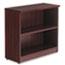 Alera® Alera Valencia Series Bookcase, Two-Shelf, 31 3/4w x 14d x 29 1/2h, Mahogany Thumbnail 2