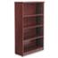 Alera® Alera Valencia Series Bookcase, Four-Shelf, 31 3/4w x 14d x 54 7/8h, Mahogany Thumbnail 2