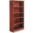 Alera® Alera Valencia Series Bookcase, Five-Shelf, 31 3/4w x 14d x 64 3/4h, Medium Cherry Thumbnail 2