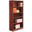 Alera® Alera Valencia Series Bookcase, Five-Shelf, 31 3/4w x 14d x 64 3/4h, Medium Cherry Thumbnail 1
