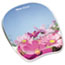 Fellowes® Gel Mouse Pad w/Wrist Rest, Photo, 9 1/4 x 7 1/3, Pink Flowers Thumbnail 1