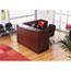 """Alera® Alera Valencia Series Reception Desk with Transaction Counter, 71"""" x 35.5"""" x 29.5"""" to 42.5"""", Mahogany Thumbnail 5"""