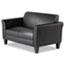 Alera® Alera Reception Lounge Furniture, Loveseat, 55.5w x 31.5d x 32h, Black Thumbnail 3