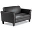 Alera® Alera Reception Lounge Furniture, Loveseat, 55.5w x 31.5d x 32h, Black Thumbnail 4