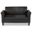 Alera® Alera Reception Lounge Furniture, Loveseat, 55.5w x 31.5d x 32h, Black Thumbnail 1