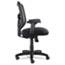 Alera® Alera Elusion Series Mesh Mid-Back Swivel/Tilt Chair, Supports up to 275 lbs, Black Seat/Black Back, Black Base Thumbnail 5