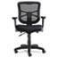 Alera® Alera Elusion Series Mesh Mid-Back Swivel/Tilt Chair, Supports up to 275 lbs, Black Seat/Black Back, Black Base Thumbnail 2