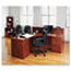 "Alera® Alera Valencia Series Straight Front Desk Shell, 71"" x 35.5"" x 29.63"", Medium Cherry Thumbnail 6"