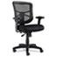 Alera® Alera Elusion Series Mesh Mid-Back Swivel/Tilt Chair, Supports up to 275 lbs, Black Seat/Black Back, Black Base Thumbnail 1