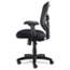Alera® Alera Elusion Series Mesh Mid-Back Swivel/Tilt Chair, Supports up to 275 lbs, Black Seat/Black Back, Black Base Thumbnail 4