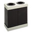 Safco® At-Your-Disposal Recycling Center, Polyethylene, Two 28gal Bins, Black Thumbnail 1